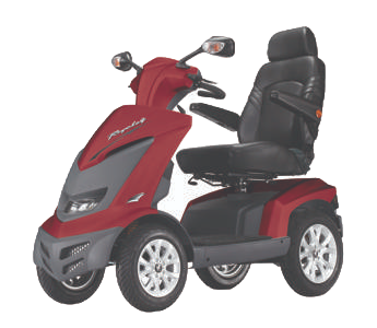 Royale 4 Wheel Scooter - Red(Batteries Not Included)