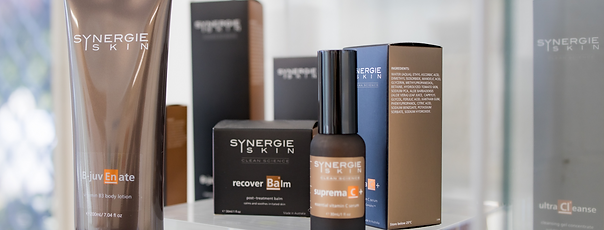Synergie Skin Care range available at The Woods Medical Centre Scarborough Perth WA