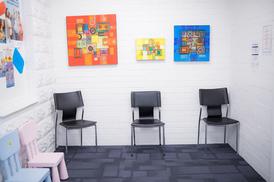 Spacious, clean waiting rooms meeting social distancing requirements at The Woods Medical Centre & Skin Cancer Clinic Scarborough Perth WA.