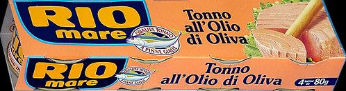 Rio Mare Tuna in Olive Oil, 4 x 80g