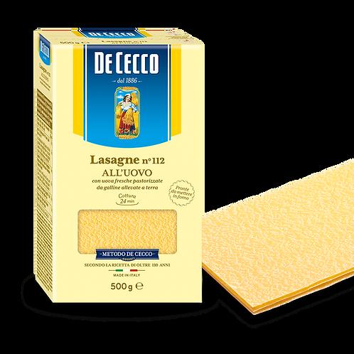 De Cecco Lasagne No 112 500g