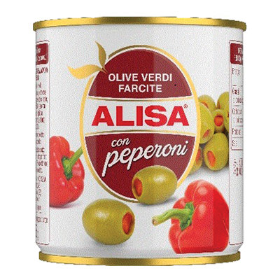 Alisa Green Olives Stuffed With Pepper 200g