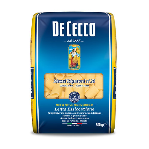 De Cecco Mezzi Rigatoni No 26 500g