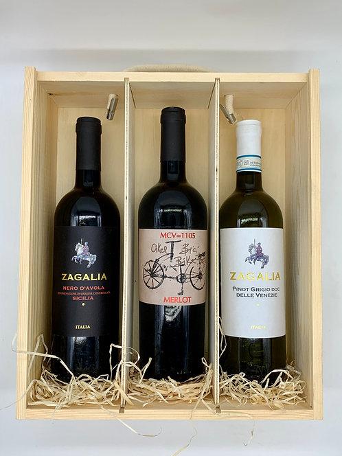 3 Bottle Classic Wine Bottle Gift Set
