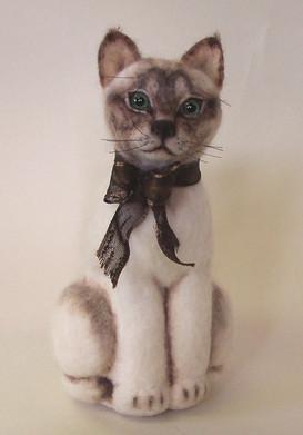 3D hand felte Smegol, our cat