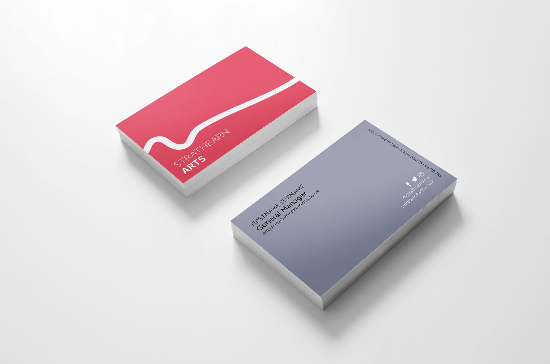 Stratheran Arts Business Card