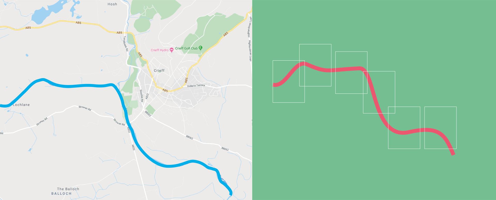 River Earn Map