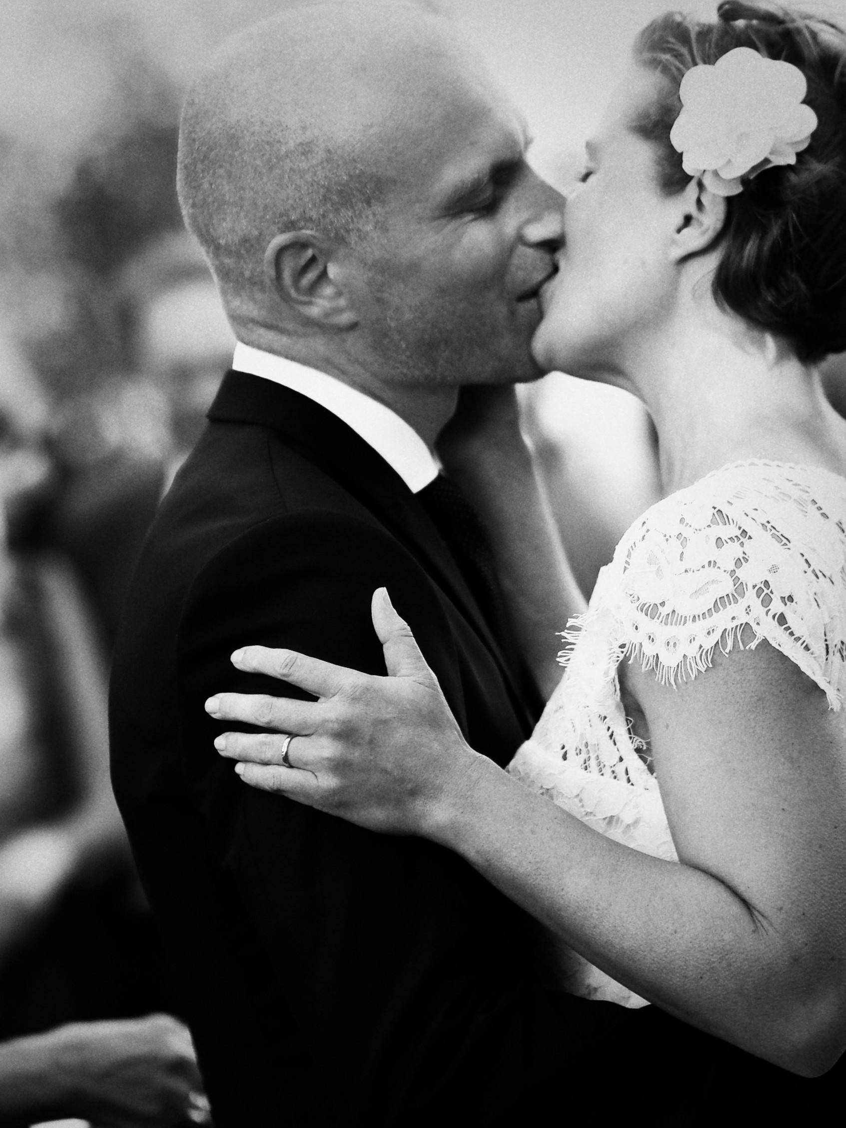 Linda och Magnus, första kyssen