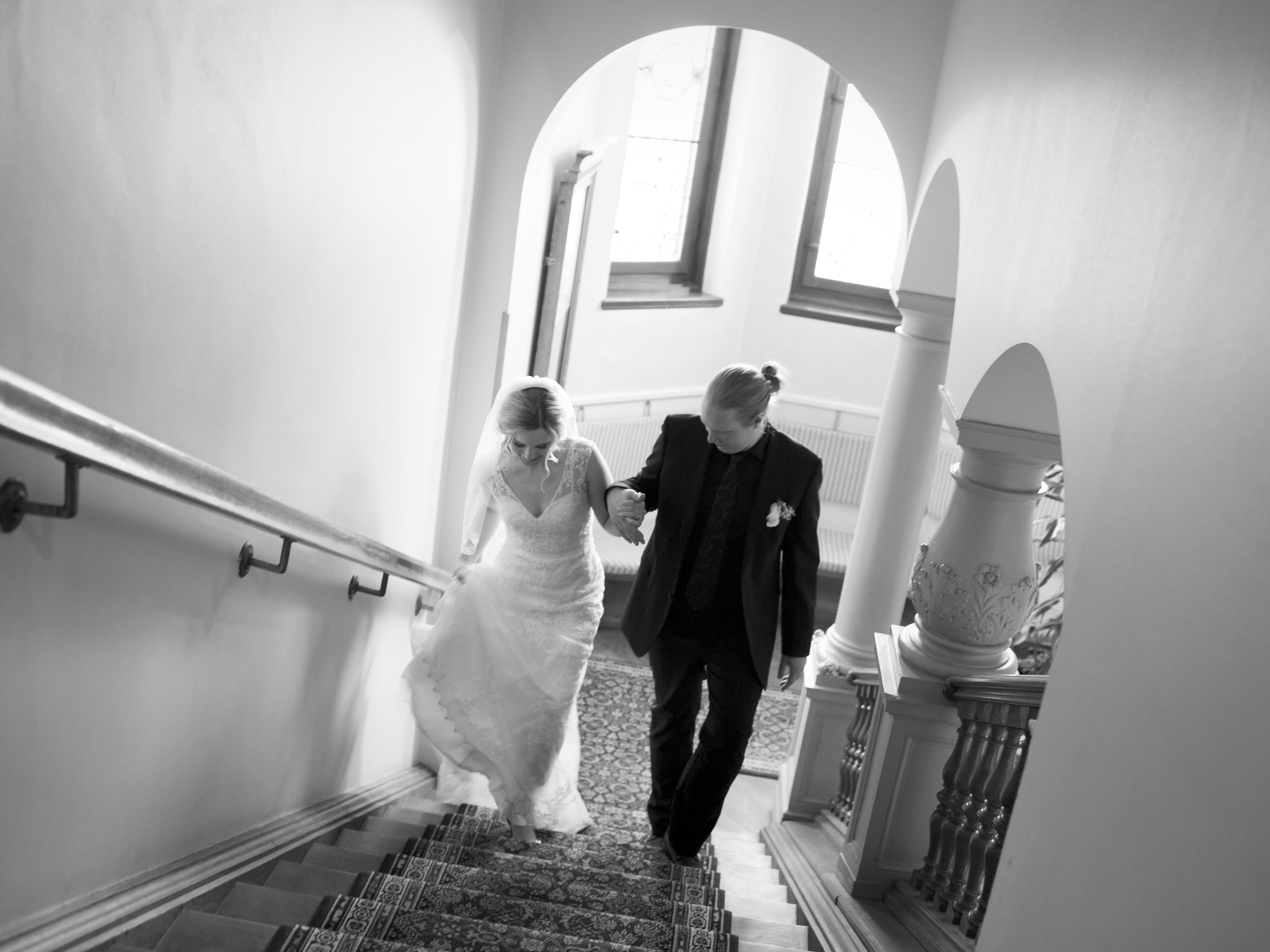 Bröllopsporträtt 5 - trappan