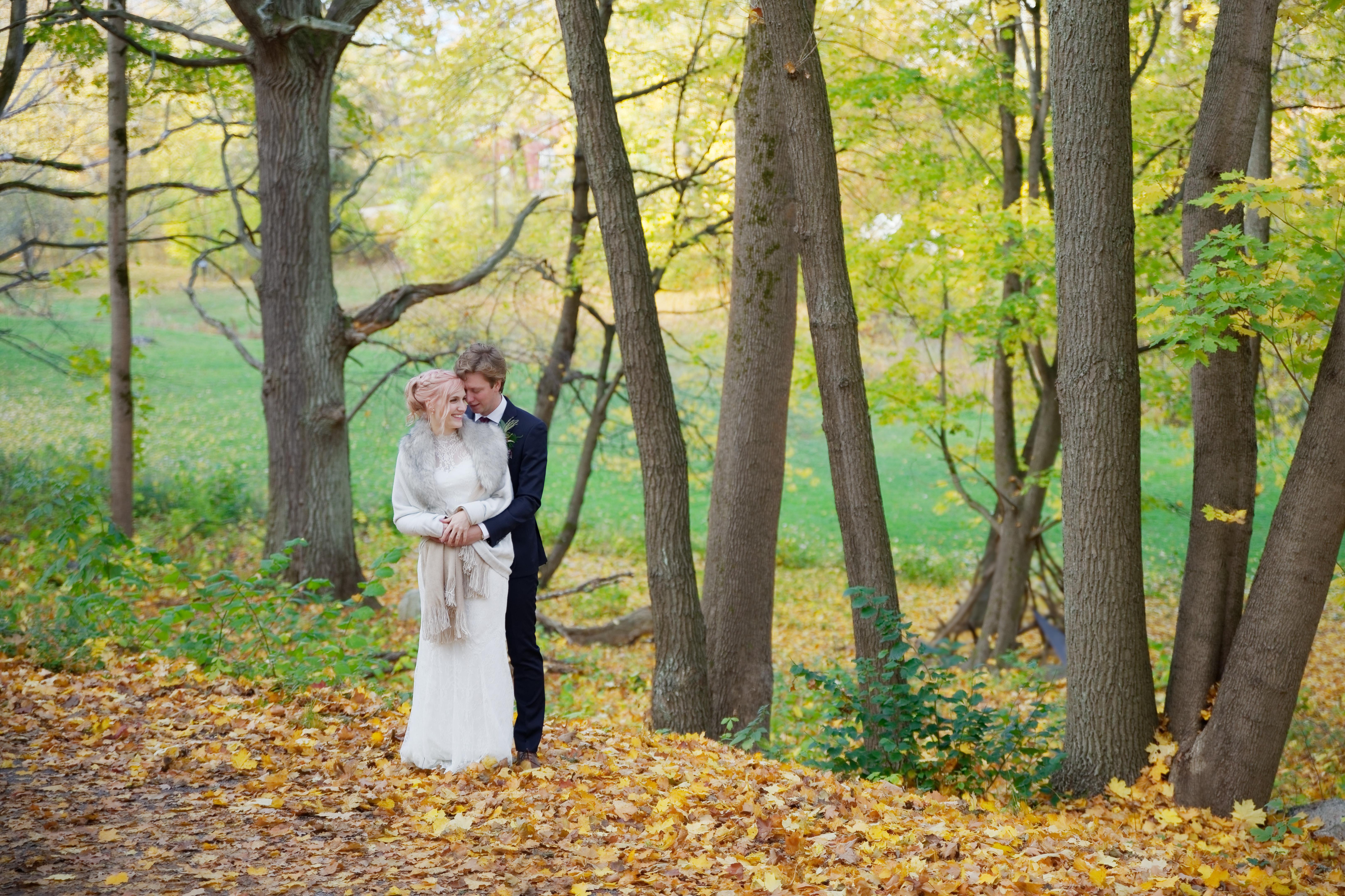 Bröllopsporträtt 1 - Ellen och Jakob