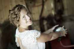 Bröllopsporträtt i skärgård