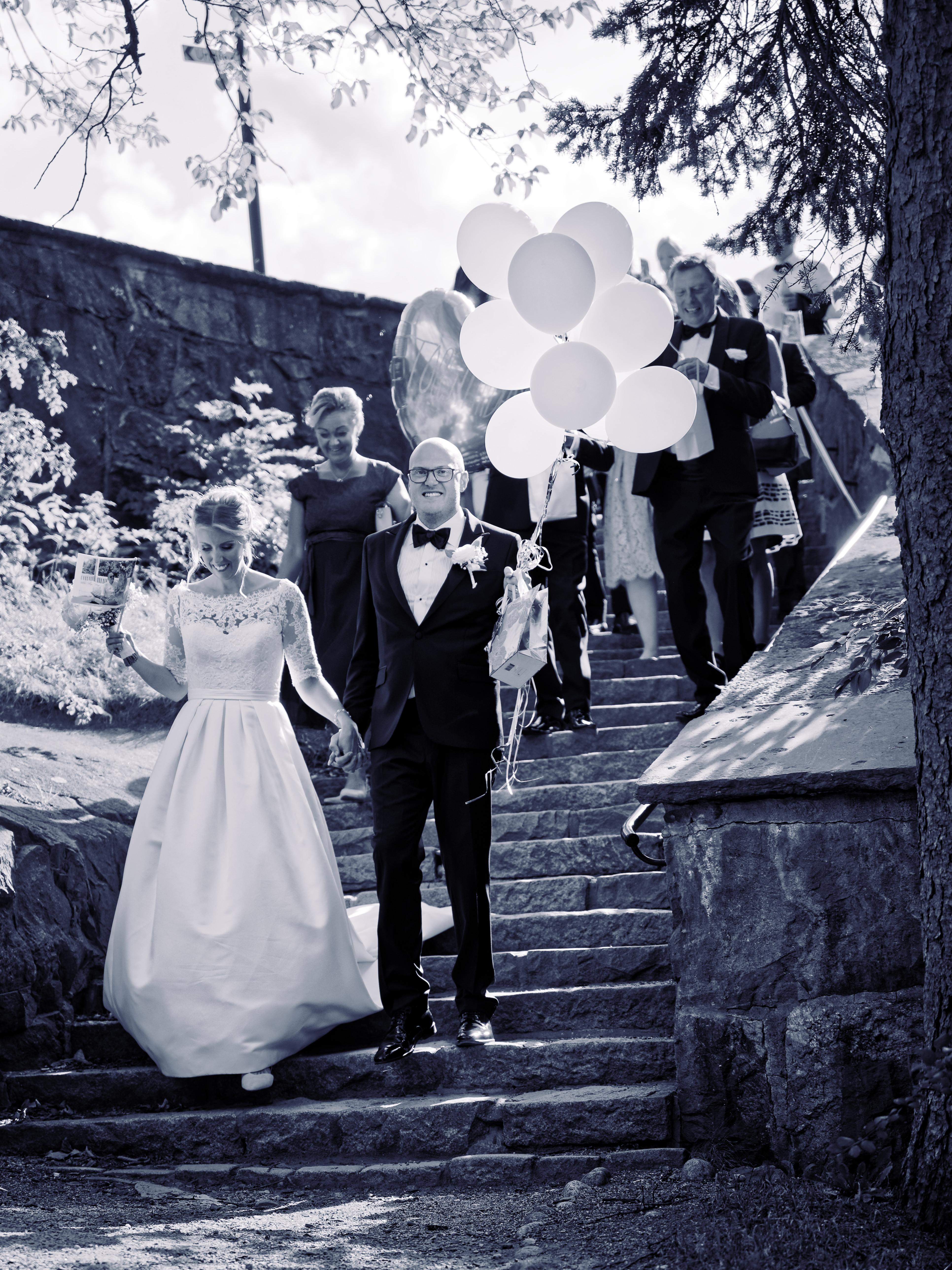 Jens och Elin nygifta