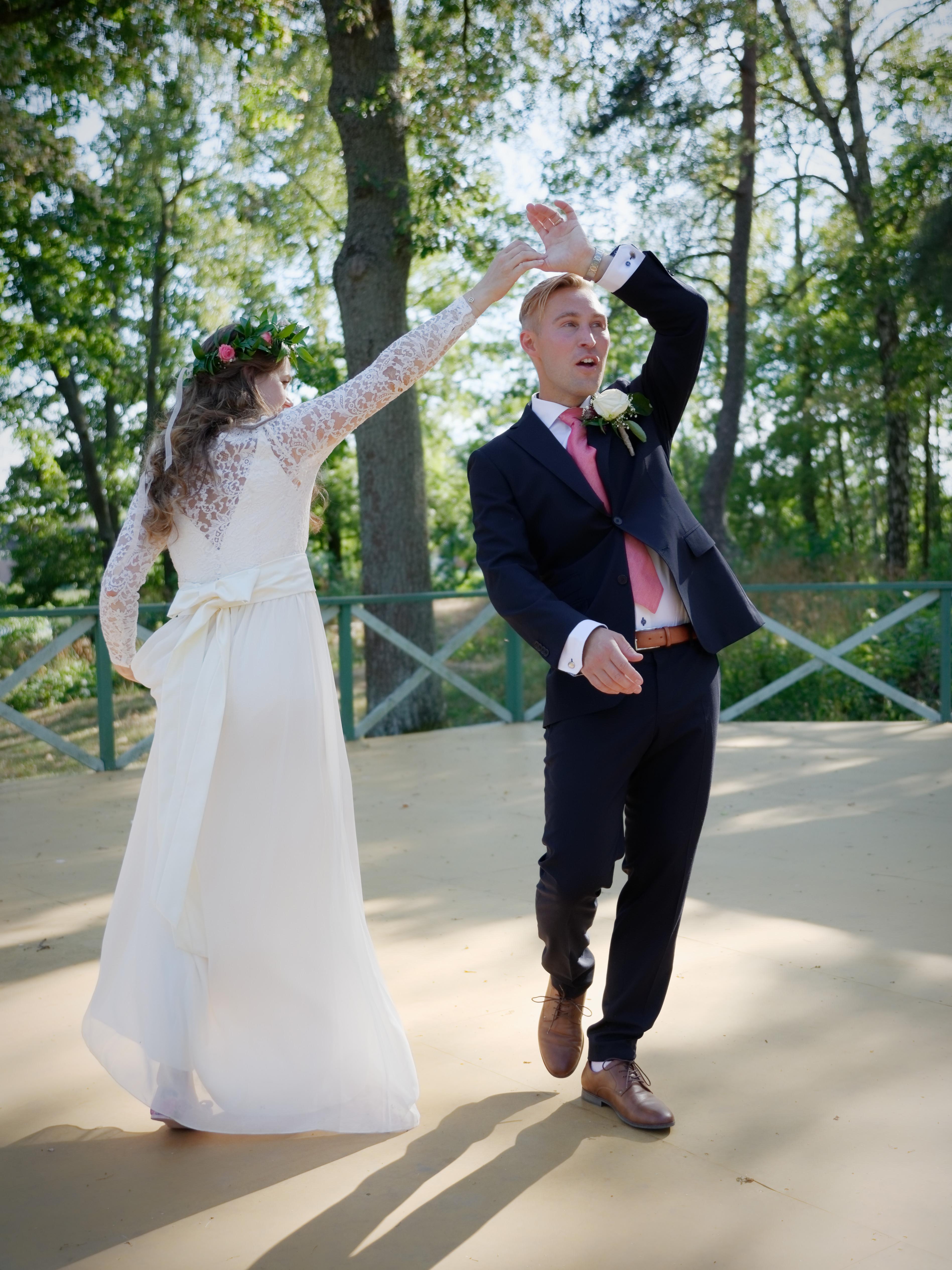 Marcus & Micaela, bröllopsporträtt 1
