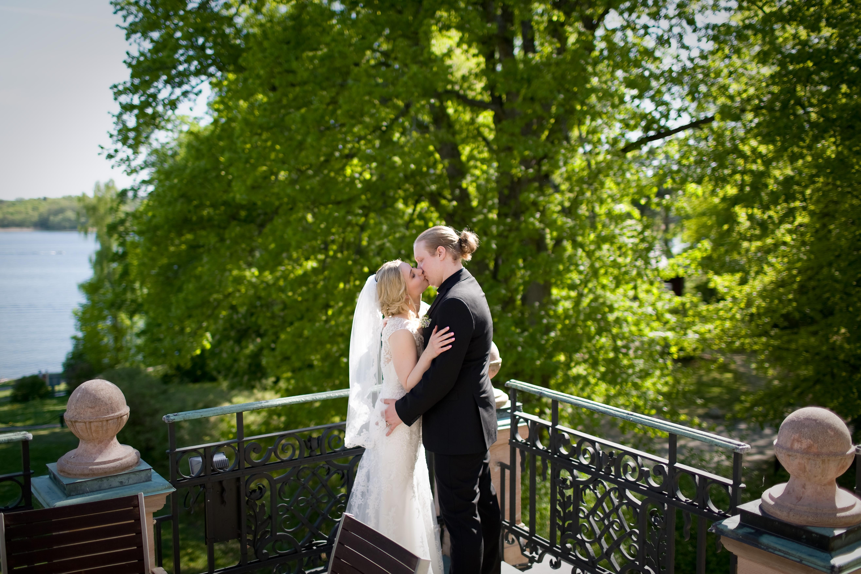 Bröllopsporträtt 6 - balkongen