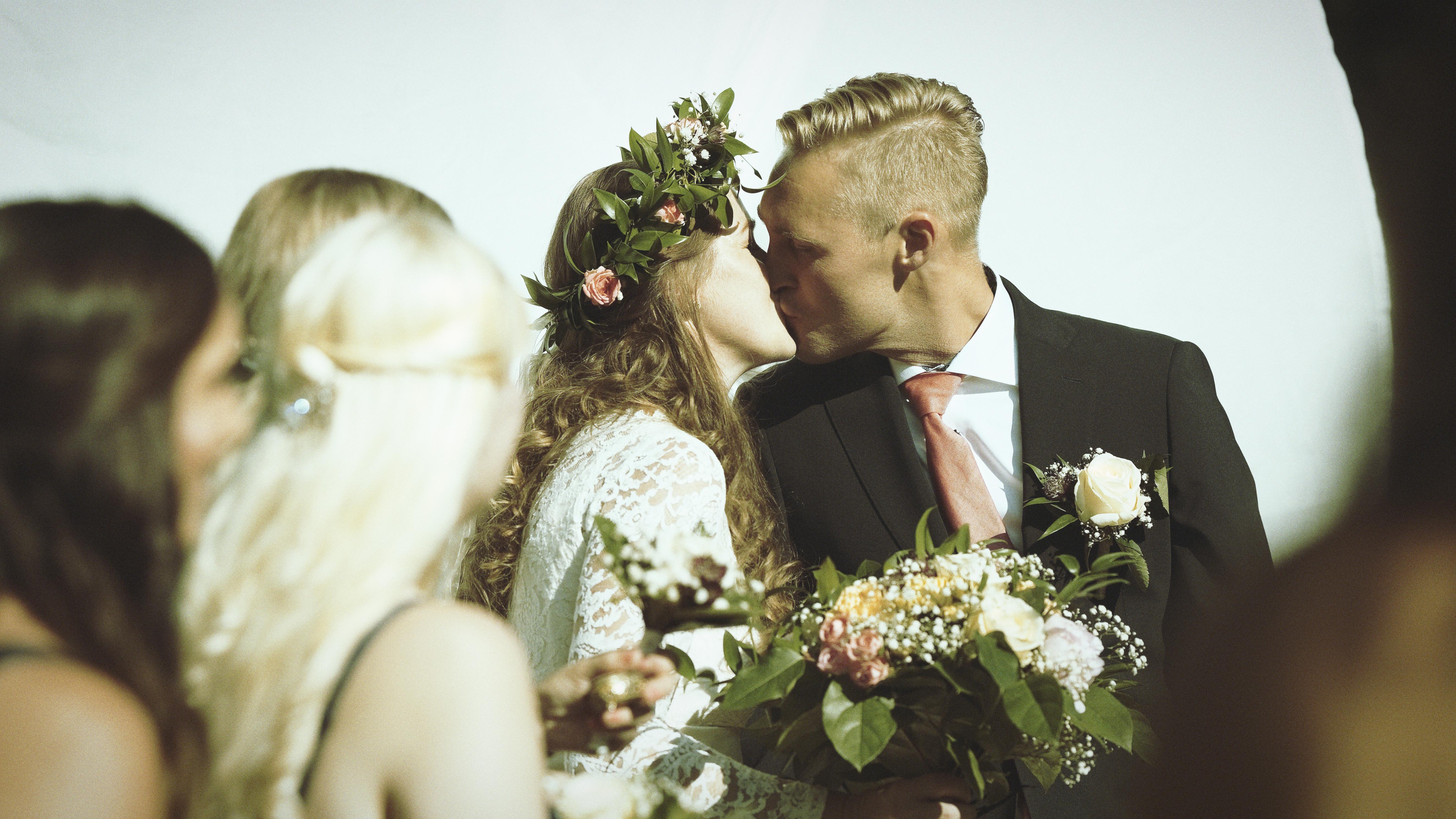 Marcus & Micaela - första kyssen