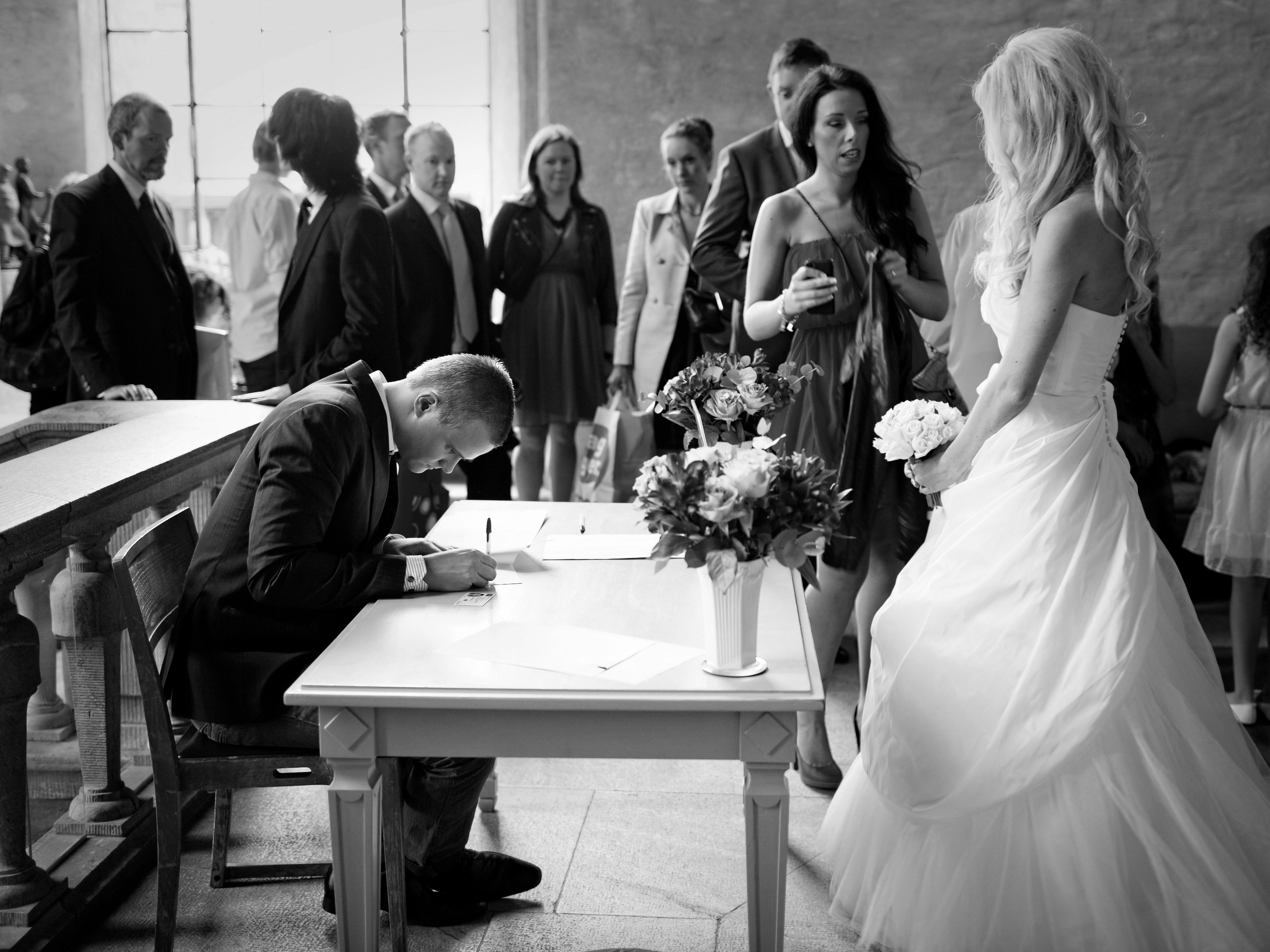 Bröllop - registrering