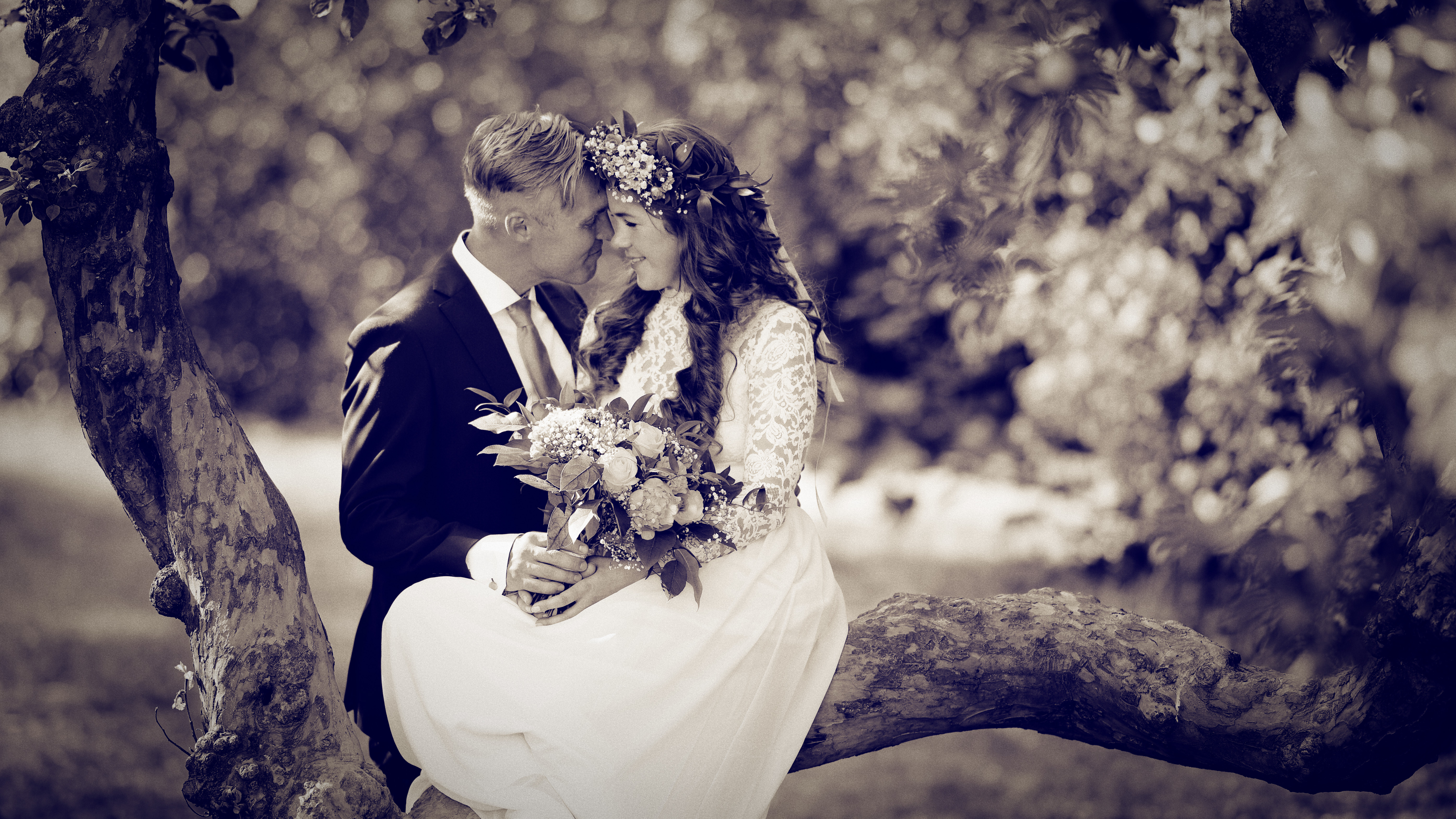 Marcus & Micaela, bröllopsporträtt 4