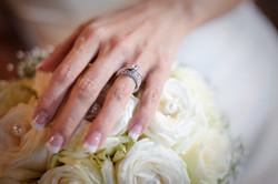 Vigselring - bröllopsbukett