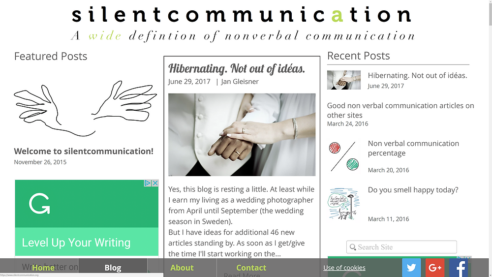 bloginbloginblog... about non verbal communication