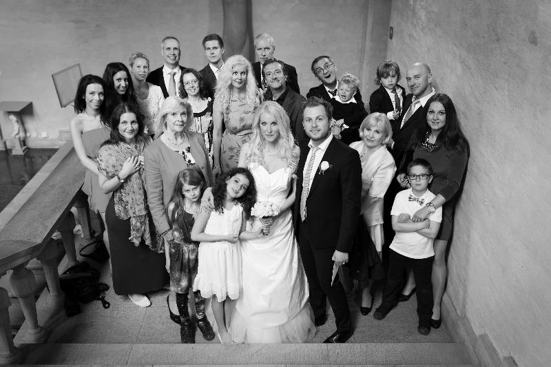 Bröllop - gruppfoto