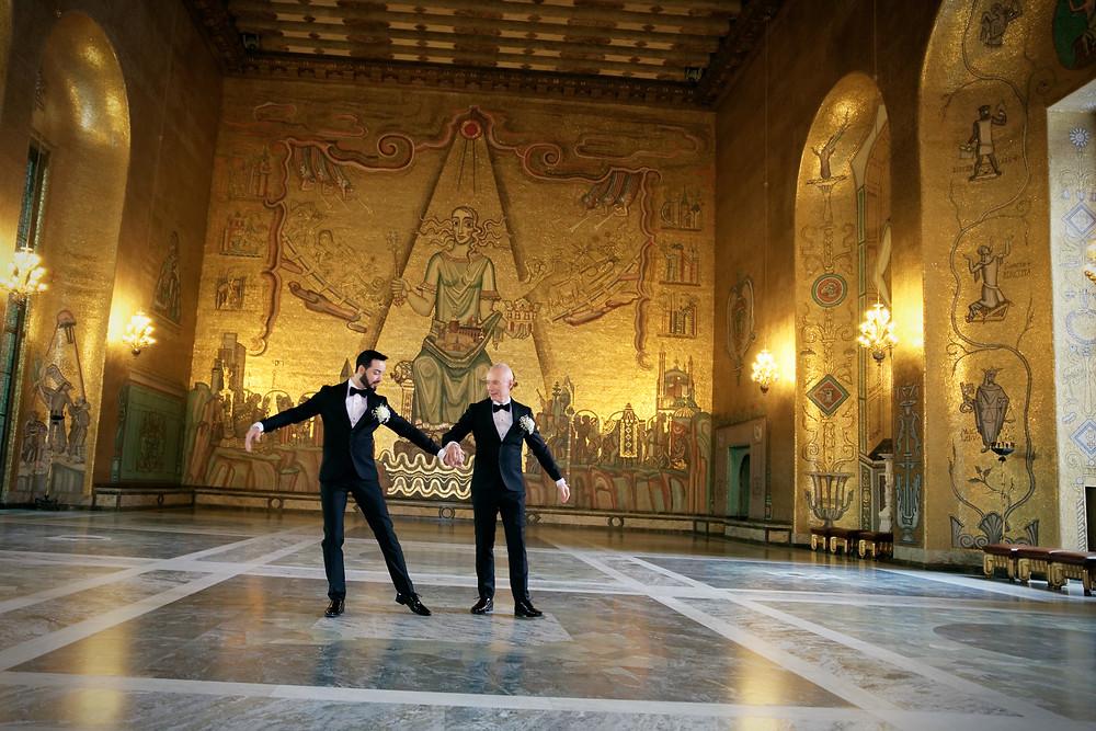 Argentinsk tango i Gyllene salen, Stockholms stadshus, en helt vanlig torsdag