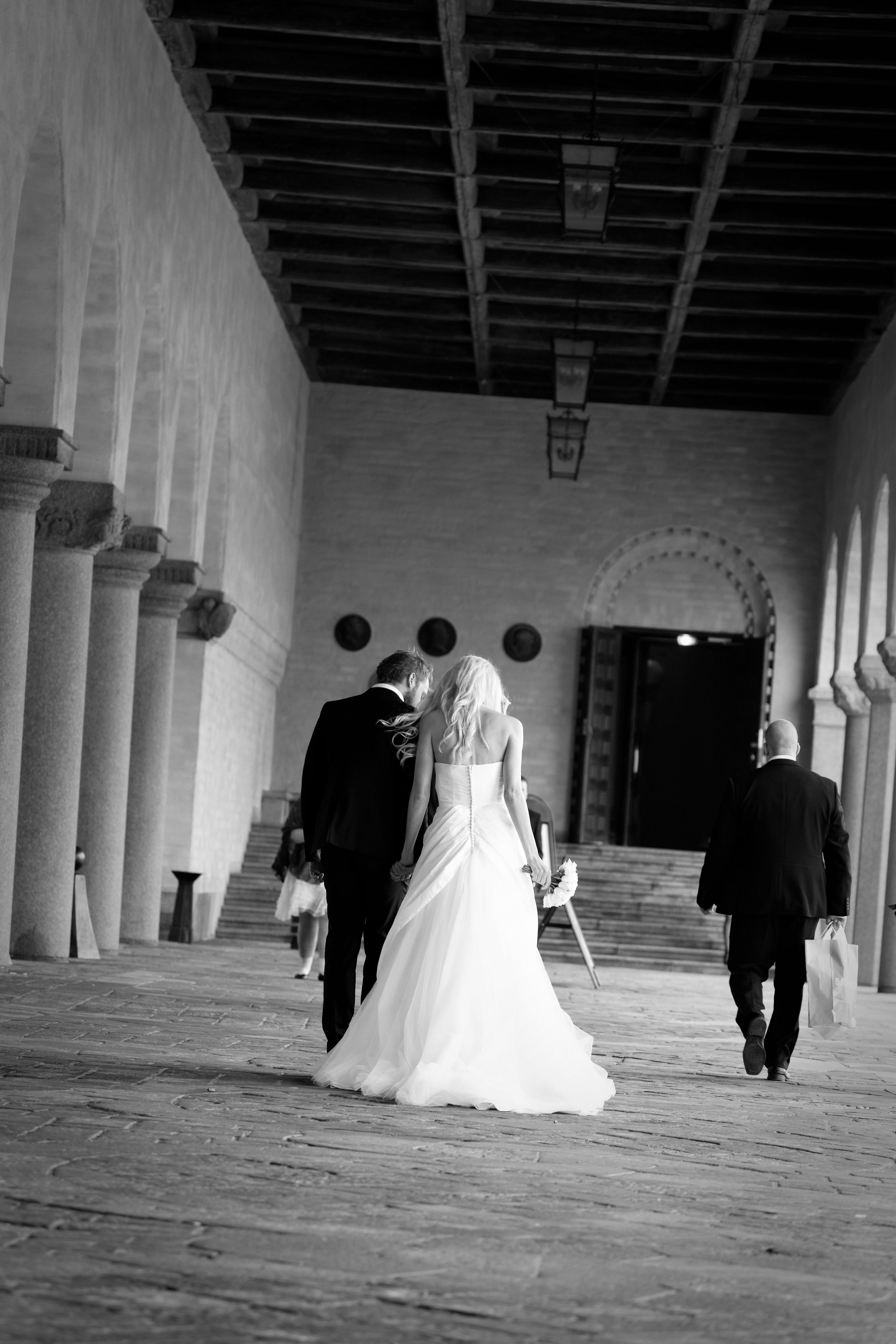 Bröllop - på väg in