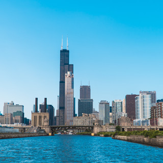 Chicago Skyline from the Chinatown Water Taxi