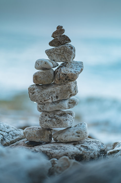 8x10 Print - Stacked Rocks