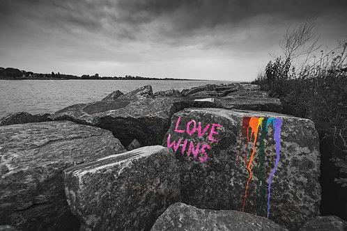 """11x14 Print - """"Love Wins"""""""