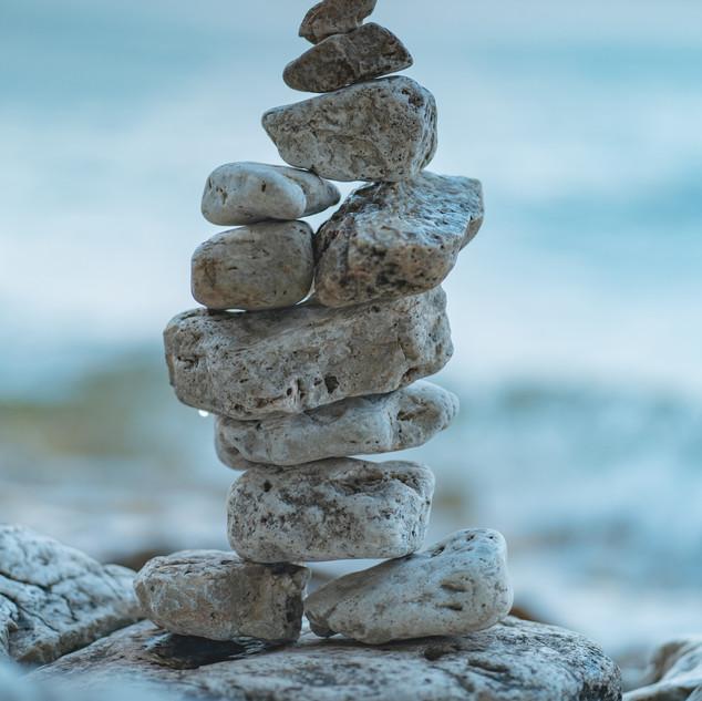 Stacked Rocks in Door County Wisconsin