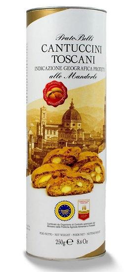 PRATO BELLI - Cantuccini met 20% amandelen in cilinder verpakking