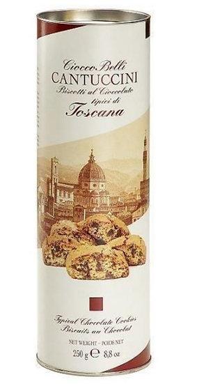 PRATO BELLI - Cantuccini met stukjes pure chocolade in cilinder verpakking