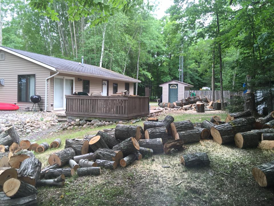 Woodsplitting in townsed wisconsin