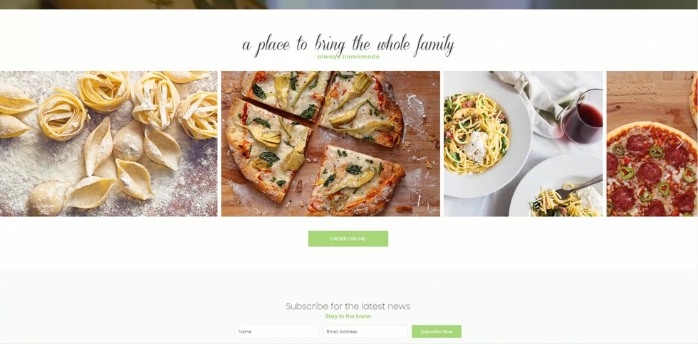 Restaurant and Catering Website