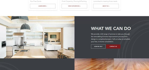 Home Remodeling and Renovation Web Design Project | Appleton Wisconsin