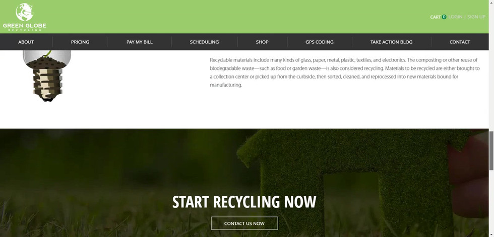 Recycling eCommerce Web Design Project