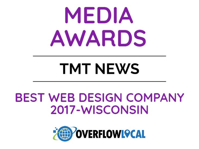 Overflow Local Named Best Web Design Company in Wisconsin by TMT News