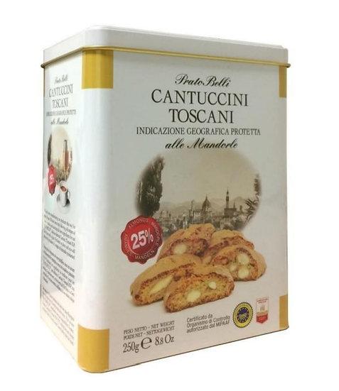 PRATO BELLI - Cantuccini met 25% amandelen IGP in blik