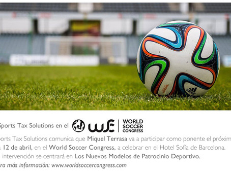 "Sportstaxsolutions participa en ""Word Soccer Congress 2019"""