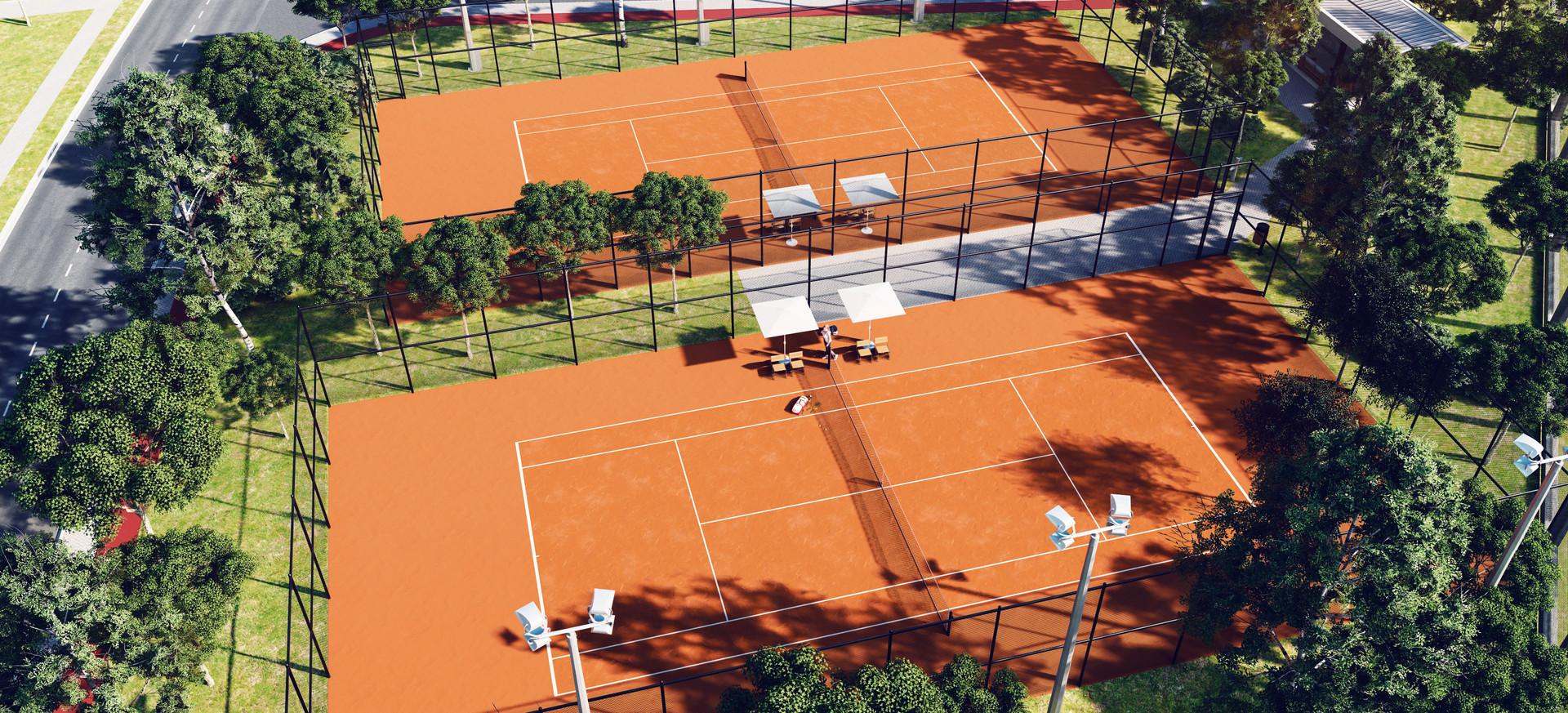 2 Quadras de tênis