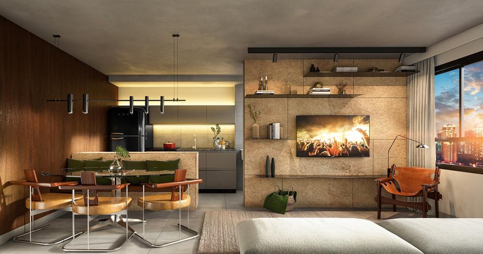 Living - 2 Suites - 71 a 75m
