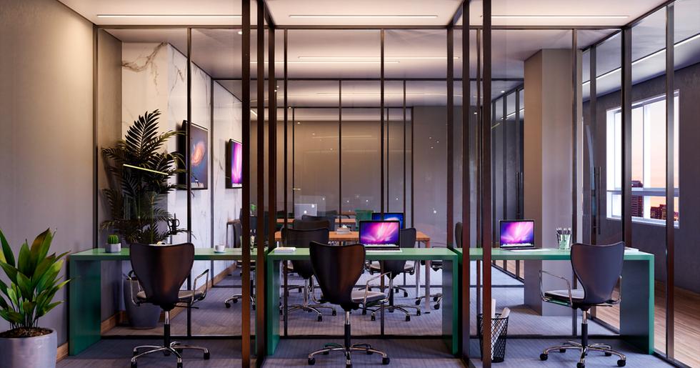 Coworking - estações individuais