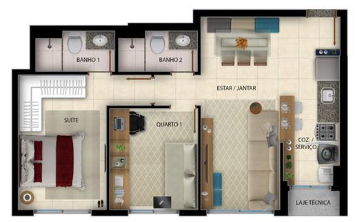Versátil - 57m² - Office