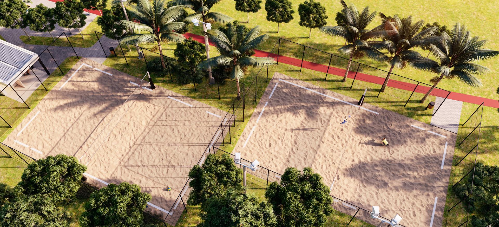 2 Quadras de areia