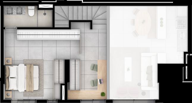 Duplex A Superior separado - 107M