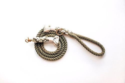 Olive Rope Leash