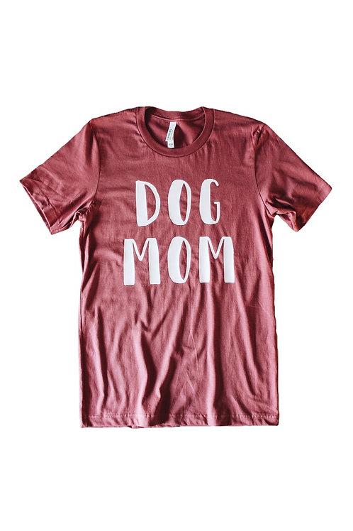 Dog Mom Tee - Mauve