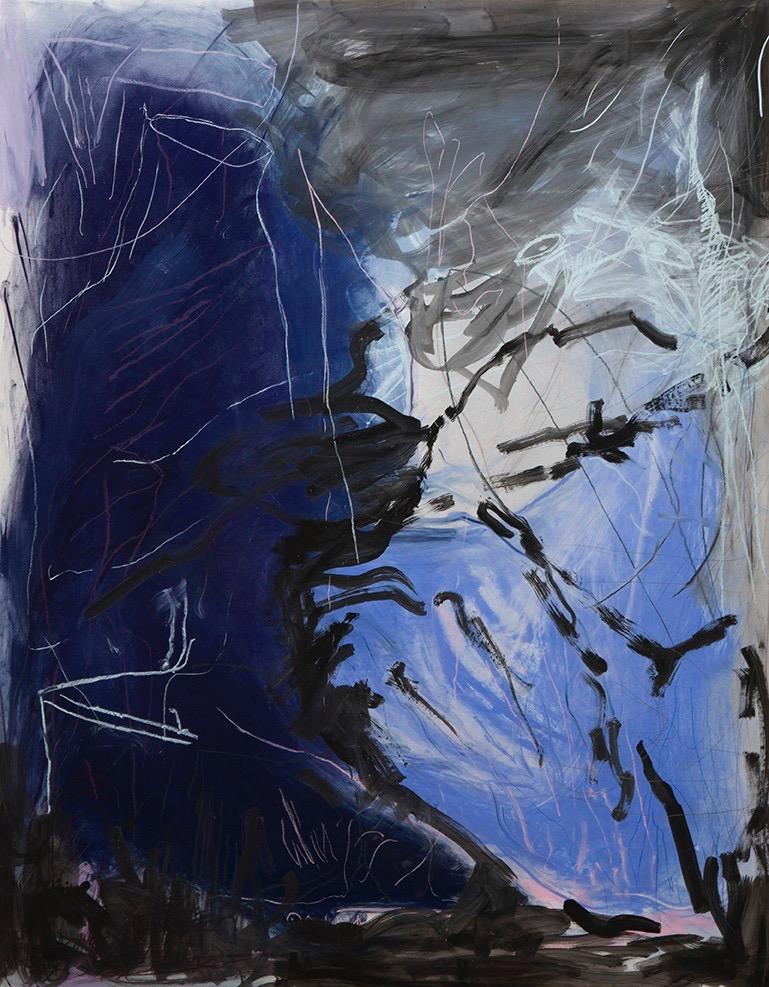 Rainer Gröschl, o.T, Pastell und Tusche auf Papier, 200 x 150 cm