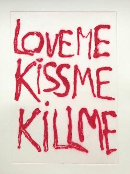 Love me...., Rainer Gröschl, 2020, Radierung