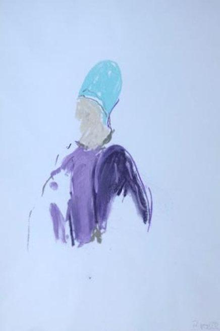 Jockey VIII, Rainer Gröschl, 2020,Original-Zeichnung